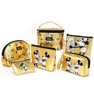 Disney Mickey and Minnie Cosmetic Bag Set of 6